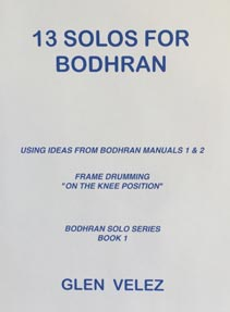 Cover of Bodhran Manual, 13 solos
